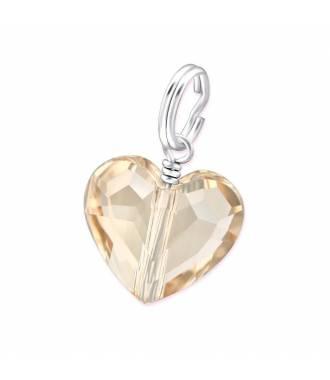 Charms Swarovski cristal coeur silk
