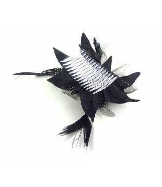 Peigne fleur noire 2