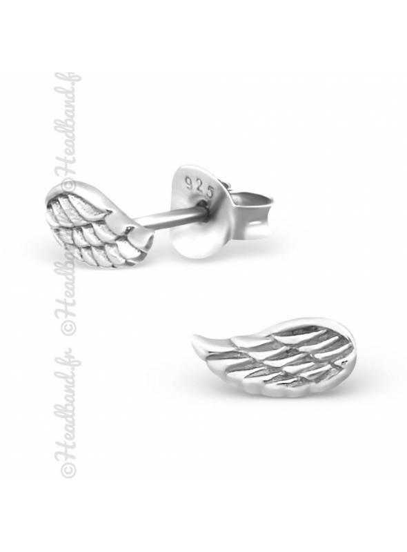 Clous d'oreilles ailes d'ange argent 925