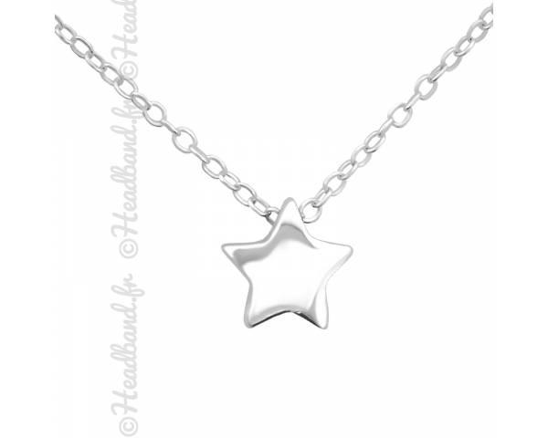 Collier forme étoile argent 925