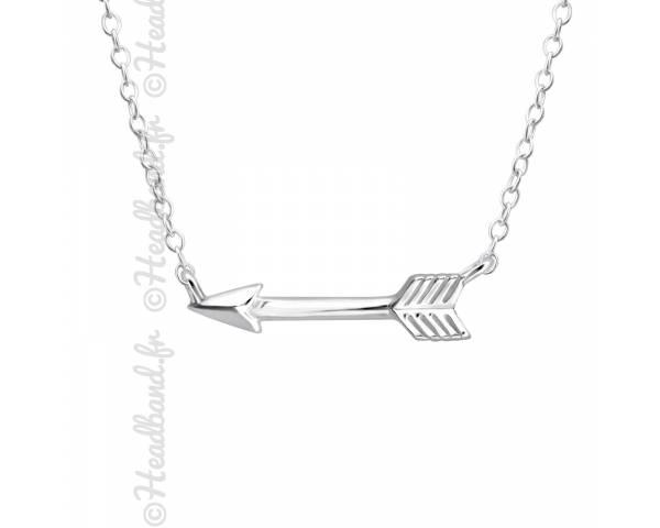 Collier pendentif flèche argent 925