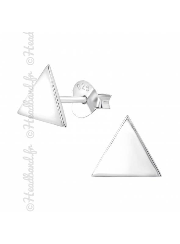 Clous d'oreilles triangle argent 925