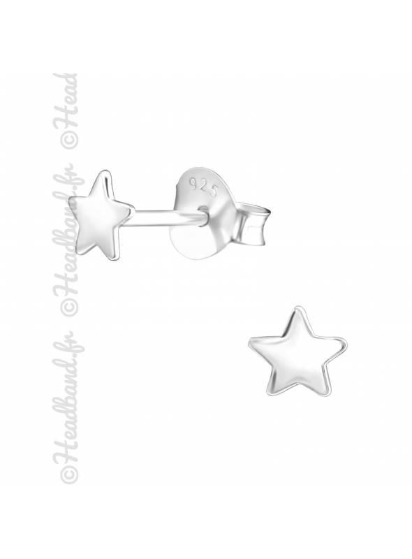 Clous d'oreilles étoile argent 925