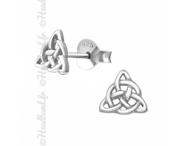 Clous d'oreilles noeud celtique argent 925