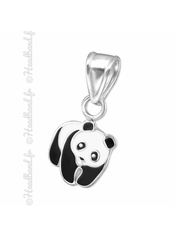 Pendentif enfant panda émaillé argent 925