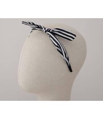 Serre-tête noeud motif rayé