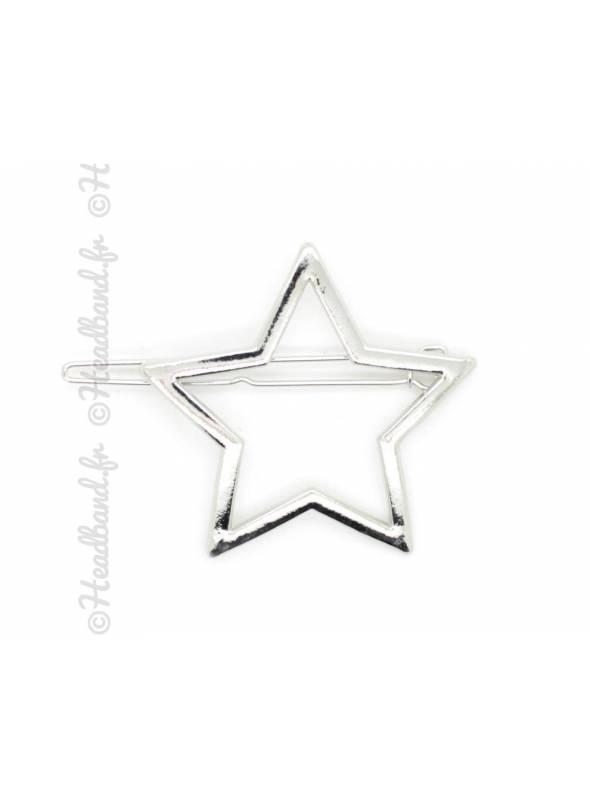 Barrette métal motif étoile
