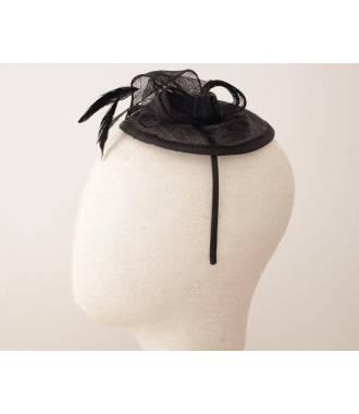 Serre-tête chapeau noir