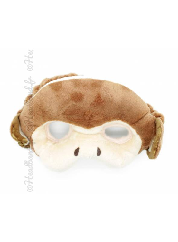 Masque peluche enfant singe