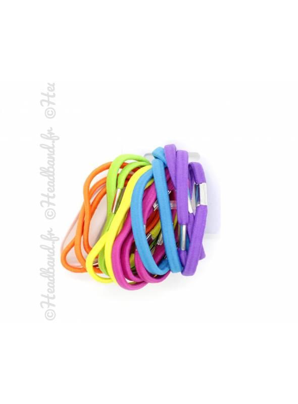Lot de 20 mini-élastiques colorés 5 mm