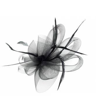 Coiffe élégante mariage tulle noir