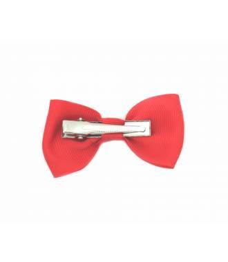 Pince nœud papillon clip rouge 7 cm