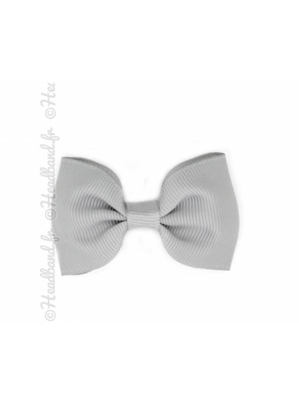 Pince nœud papillon clip gris 7 cm