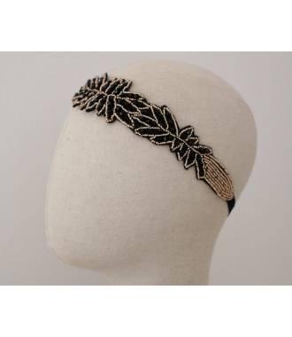 Bijou de cheveux élégant feuilles noires