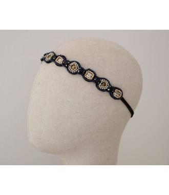 Bandeau ethnique perles bleues Julia