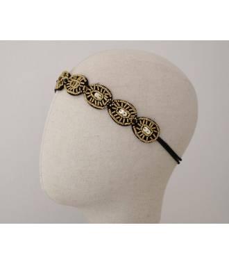 Tour de tête perles bronze bohème Maria