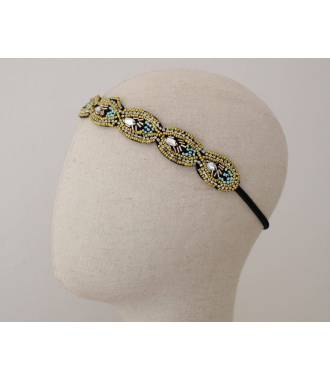 Headband bijou ethnique perles Valentine