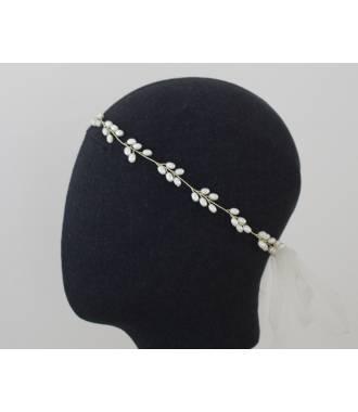 Tour de tête de mariée perles nacre Betty