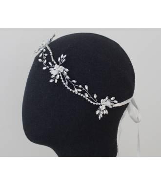 Tour de tête de mariée en cristaux Elsa