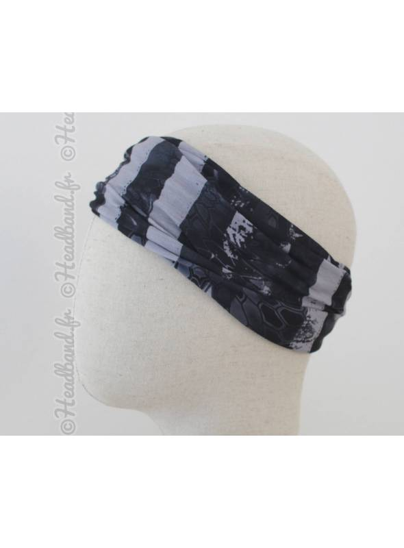 Headband multifonction motif drapeau amérique gris