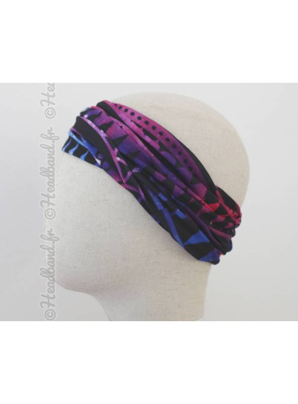 Headband multifonction motif géométriques