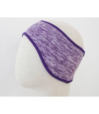 Bandeau cheveux polaire violet chiné
