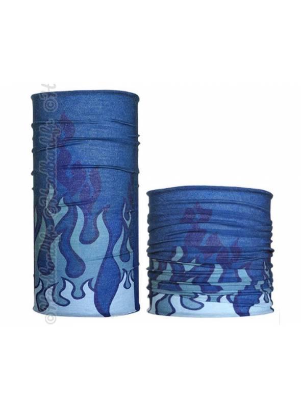 Headband multifonction imprimé flammes bleues