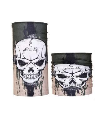 Headband multifonction motif tête de mort