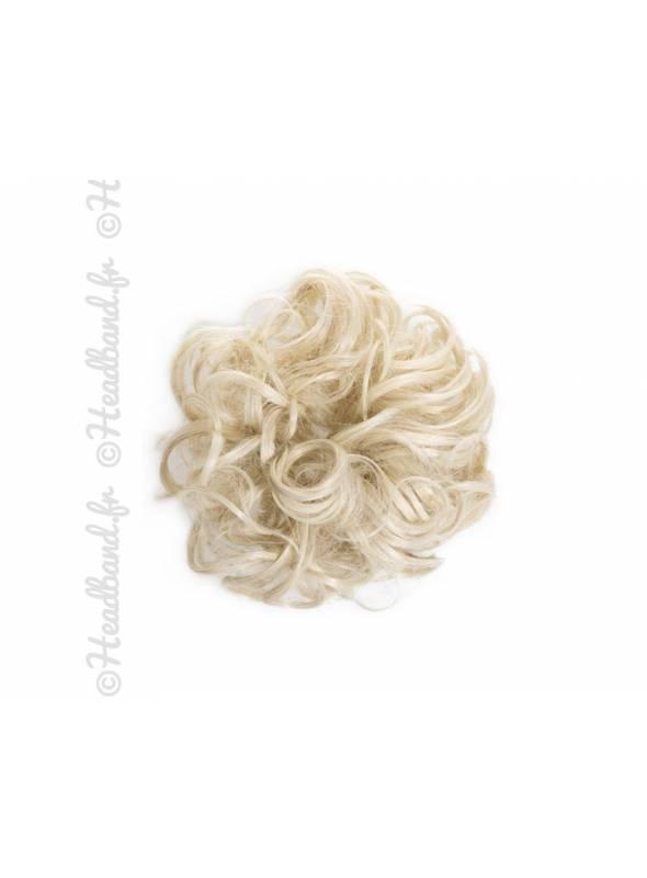 Chouchou en cheveux postiche - Blond clair