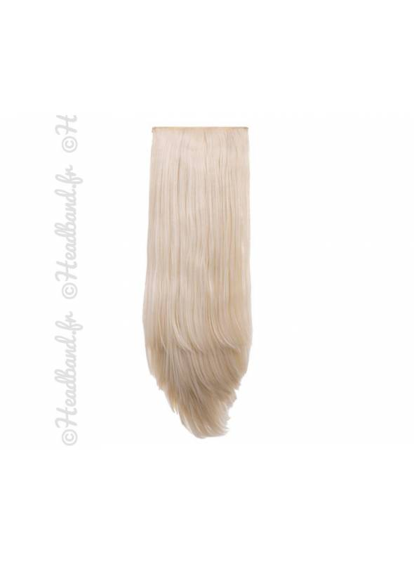 Extensions clips 8 bandes raides 50 cm - Blond très clair