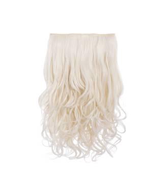 Extension cheveux monobande ondulée 45 cm - Blond très clair