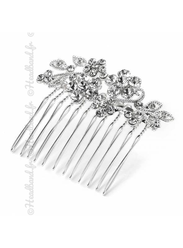 Peigne précieux mariée à cristaux