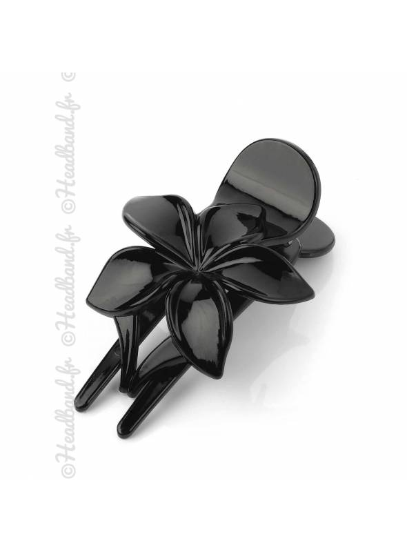 Pince cheveux fleur noire
