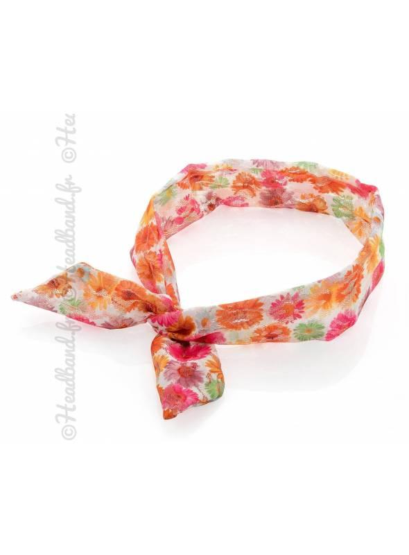 Headband cheveux fil de fer fleuri