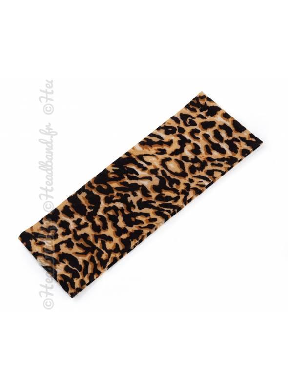 Bandeau imprimé léopard stretch