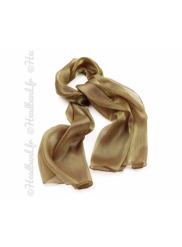 Foulard étole doré effet métallisé