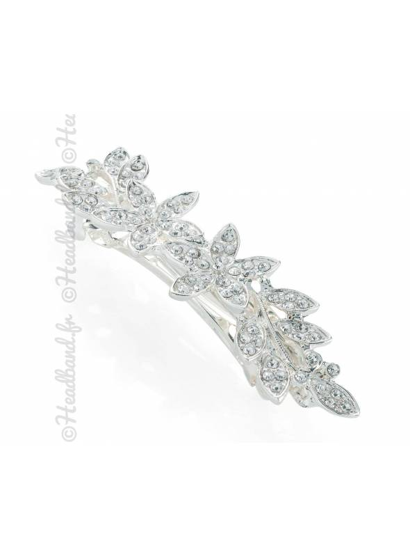 Pince clip motif fleurs chignon mariée