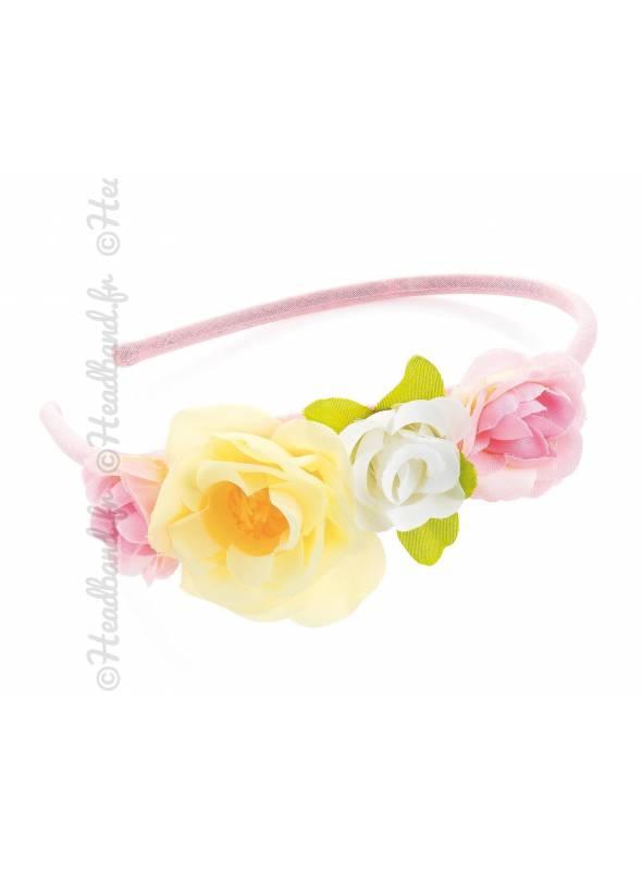 Serre-tête cérémonie fille à fleurs