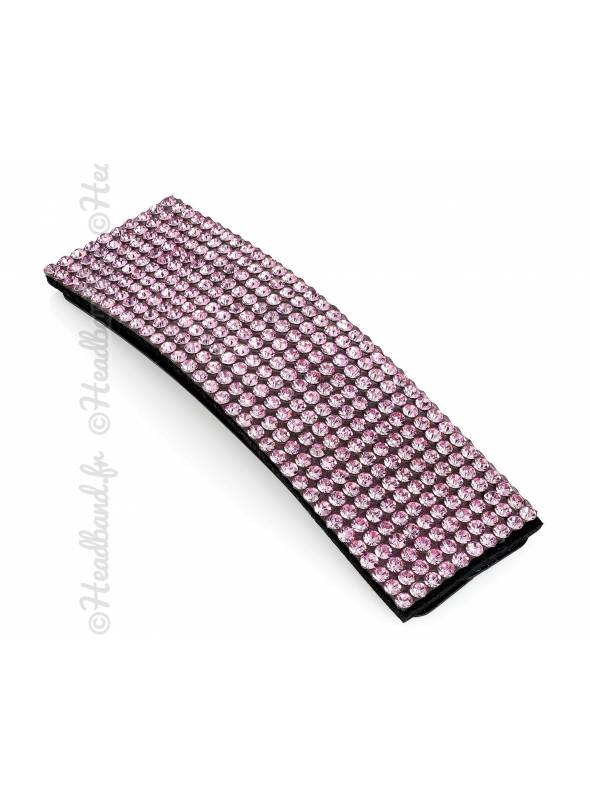 Pince clip rectangulaire strass rouge