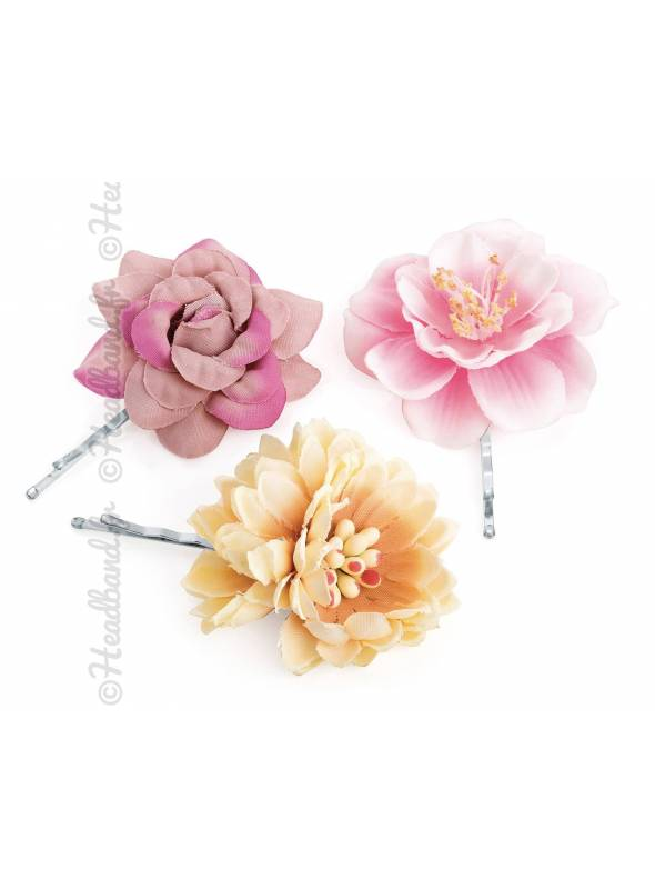 Pince plate fleur bohème lot de 3