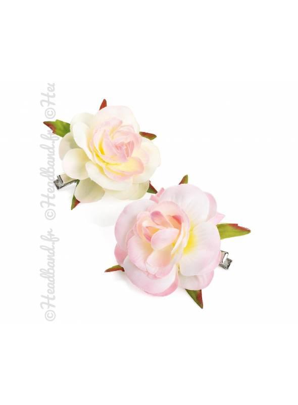 Pince mariage fleur pastel