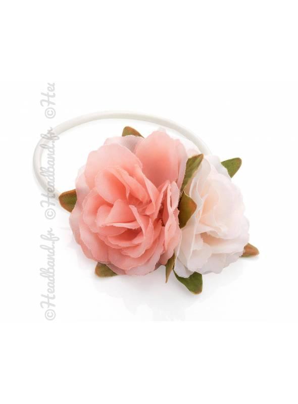 Elastique fleurs pastel bohèmes
