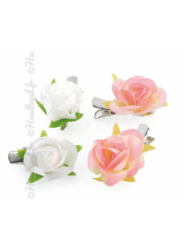 Pince petites roses bohèmes lot de 4