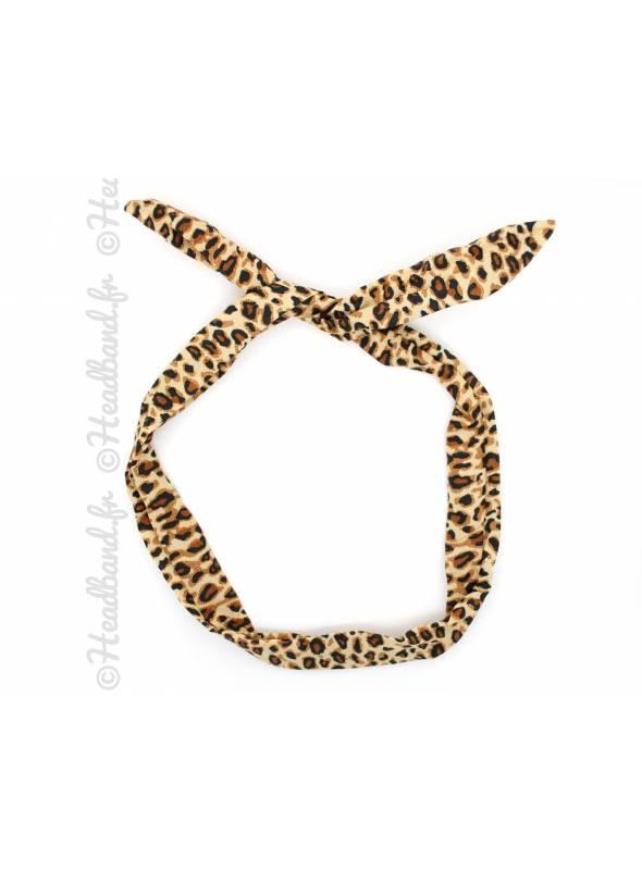 Bandeau fil de fer léopard marron