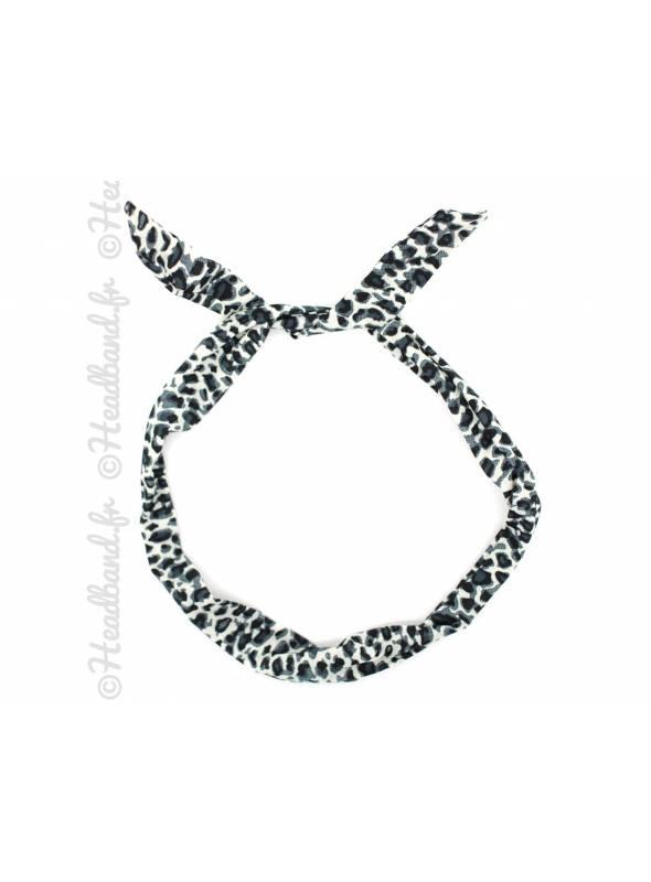 Bandeau fil de fer léopard gris