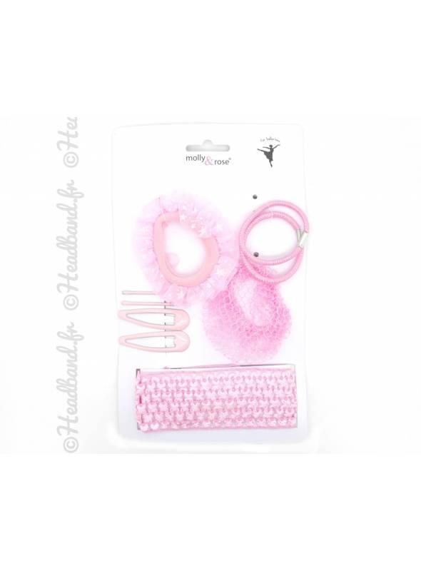 Set d'accessoire danseuse rose