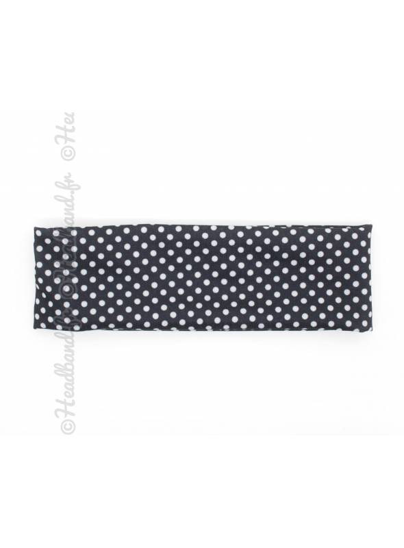 Bandeau large stretch petits pois