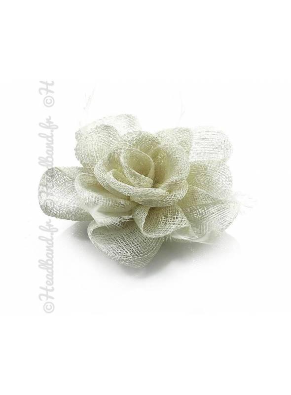 Bibi sisal fleur crème