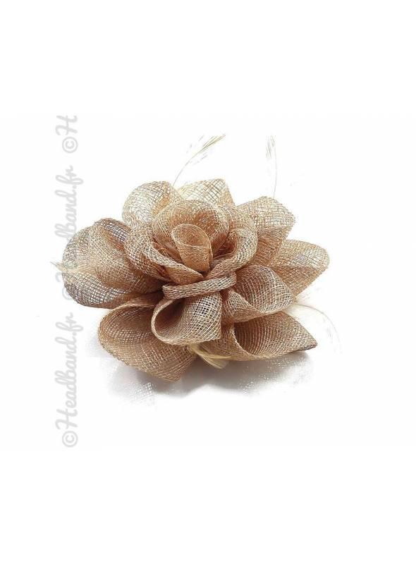 Bibi sisal fleur nude