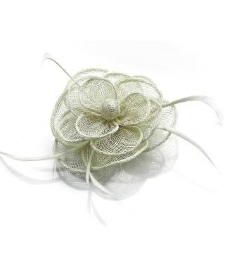 Bibi cheveux fleur mariage crème